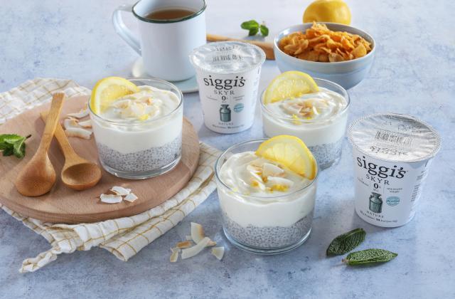 Pudding de chia au skyr, coco et zeste de citron - Photo par Silvia Santucci