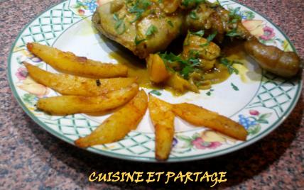 Cuisses de poulet et sauce clémentine et curry - Photo par cuisine et partage