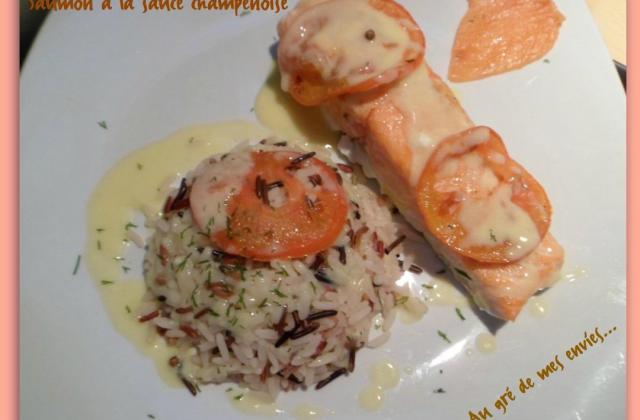Saumon et sa sauce champenoise - Photo par Annick