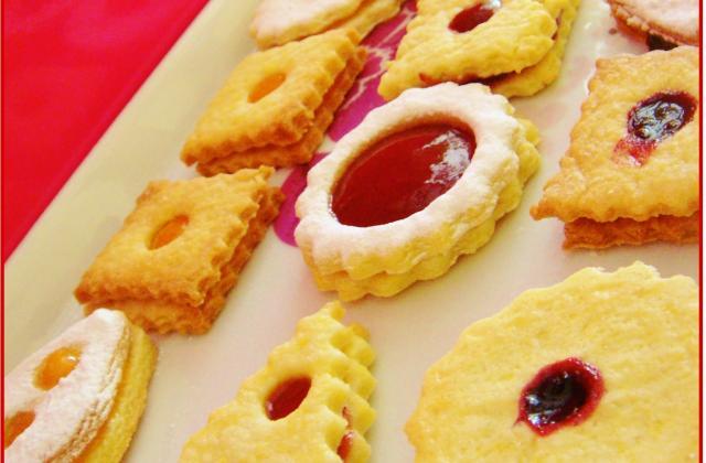Petits sablés à la confiture et au nutella - Photo par lilochoco