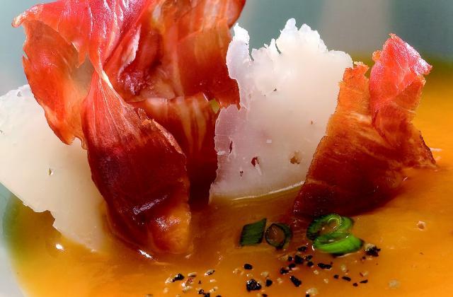 Crème de potiron au fromage manchego - Photo par Serrano