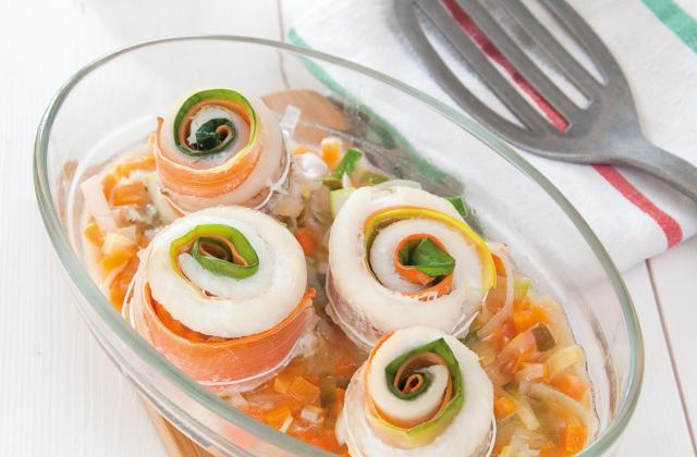 Roulés de merlan aux poireaux et carottes - Photo par Pascale Weeks