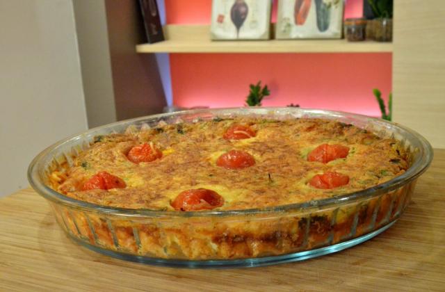 Quiche lorraine sans pâte au fromage de brebis Etorki - Photo par 750g