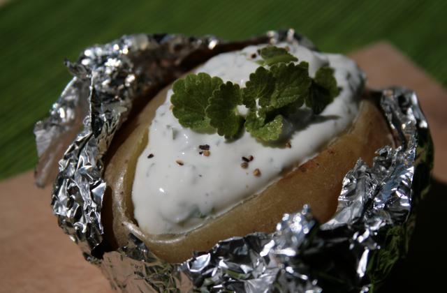 Pommes de terre en papillotes sauce au chèvre frais - Photo par tiy