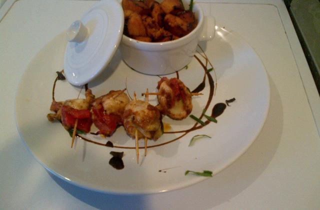 Brochettes de poulet au pesto - Photo par massonA6