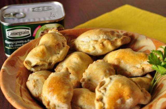 Empanadillas au champignons à la crème et au piment d'Espelette - Photo par Snapulk