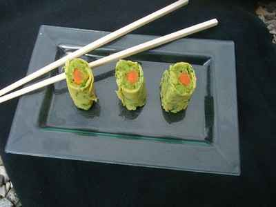 Comme un sushi aux légumes printaniers - Photo par celiep