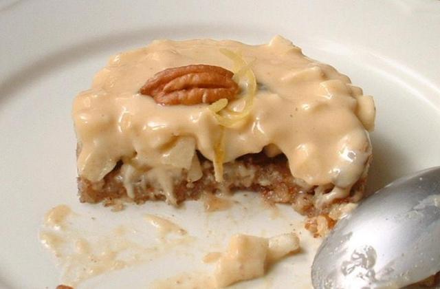Tarte aux pommes version raw food - Photo par Saveurs&Gourmandises d'Eugénie