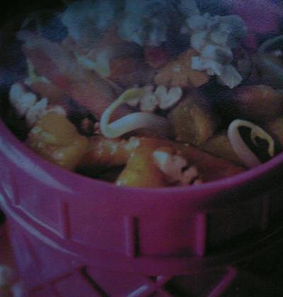 Emincé de dinde à l'ananas et au pop-corn - Photo par candic9