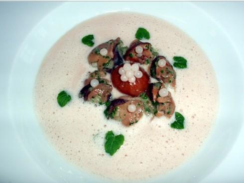 Escargots et crème de chataîgnes aux Perles des sous-bois - Photo par spierr