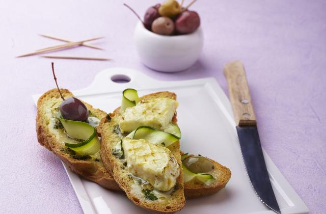 Pain Bastide Bruschetta gratinée au fromage frais - Photo par Francine