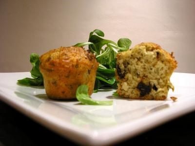 Muffins au thym et aux tomates séchées - Photo par celine0