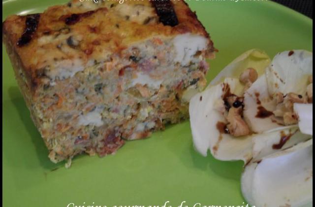 Cake aux courgettes, carottes et Fourme d' Ambert - Photo par Carmen
