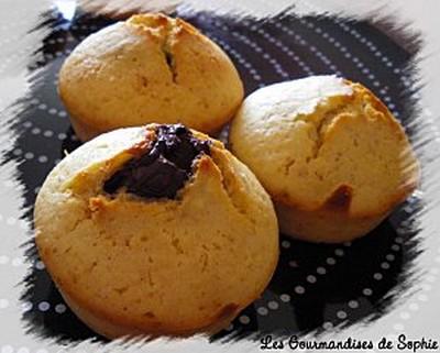 Mini moelleux aux amandes, cœur truffé chocolat - Photo par Sophie21