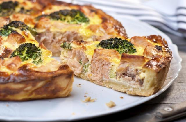Quiche au saumon, brocolis et fromage râpé Sublime Filante Giovanni Ferrari - Photo par 750g