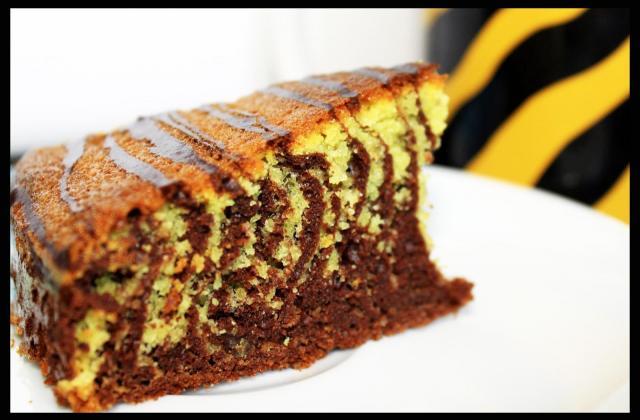 Gâteau zébré chocolat-amandes - Photo par chloedelice