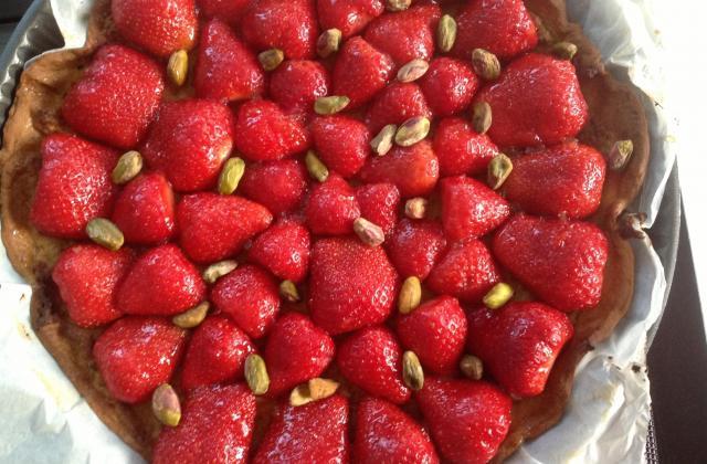 Tarte aux fraises et crème d'amande à la pistache - Photo par 750g
