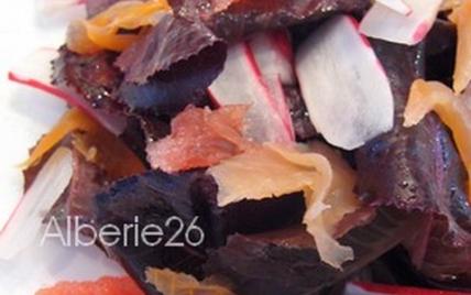 Salade en camaïeu de rose - Photo par Alberie26