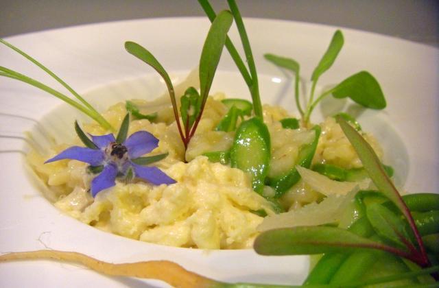 Risotto aux asperges vertes et yuzu - Photo par Histoire de goûts