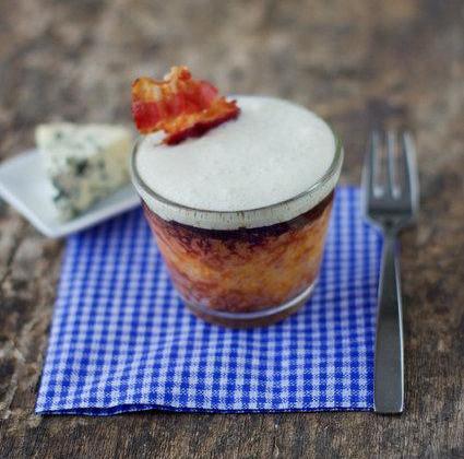 Flan de potiron et espuma de fourme d'ambert - Photo par Marcia Tack ses influences culinaires