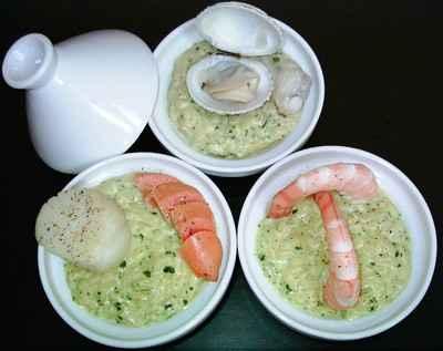 Risotto au massala, coquillage et crustacés - Photo par BerqueretVincent