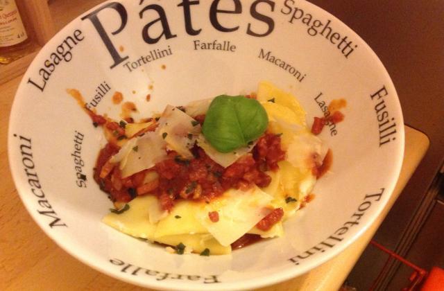 Ravioles aux 4 fromages sauce tomate - Photo par louisegS6
