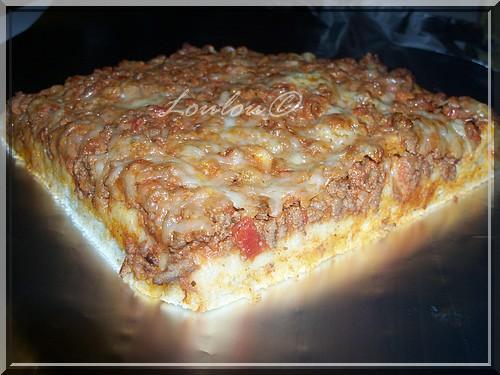Pizza à la bolognaise - Photo par Louloucuisine