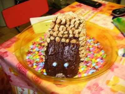 Hérisson au chocolat et amandes - Photo par 750g