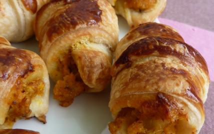 Petits croissants potimarron, noisettes et fourme d'Ambert - Photo par Ln-Gabin