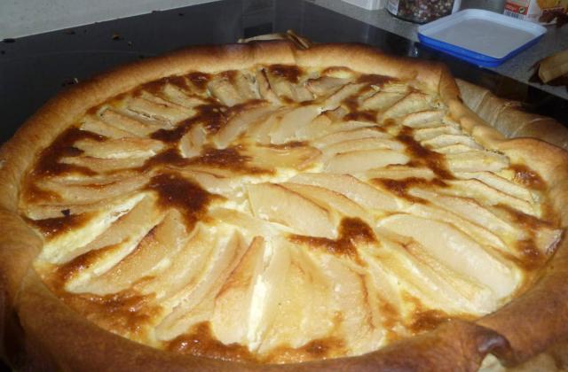 Tarte au flan et aux pommes - Photo par sucette violette