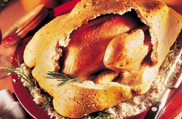 Poulet au romarin en pâte à sel - Photo par Maître Coq