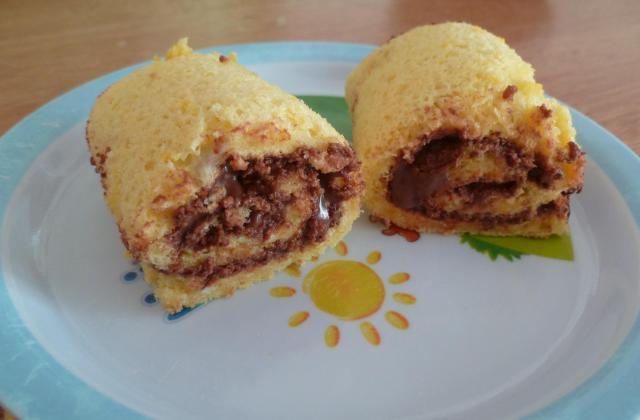 Gâteau roulé au nutella facile - Photo par capoeiB
