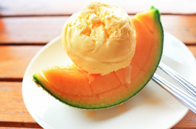 Glace au melon - Photo par 750g