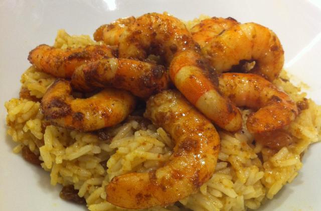 Curry de crevettes express - Photo par anadgz