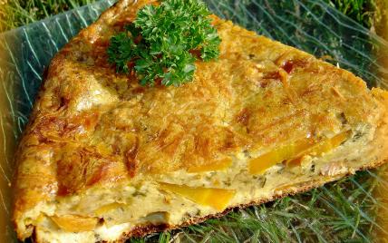 Gâteau de carottes sautées aux lardons et fromage - Photo par ninie3011