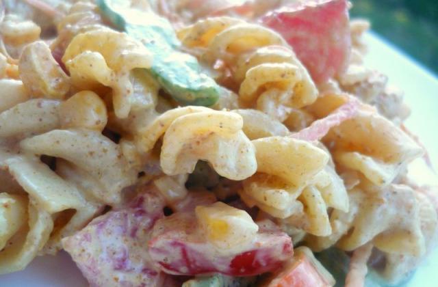 Salade de pâtes sauce Savora - Photo par popole