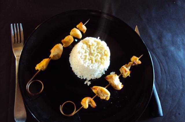 Brochettes de poulet faciles - Photo par enoral