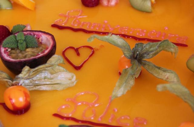 Mousse passion abricot en gateau - Photo par aquiliD