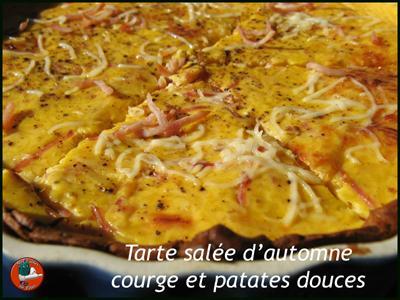 Tarte salée d'automne courge patates douces - Photo par edithsobstyl