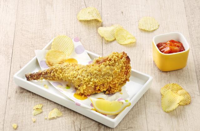 Gigolettes de lapin panées aux chips - Photo par S'cuiz in