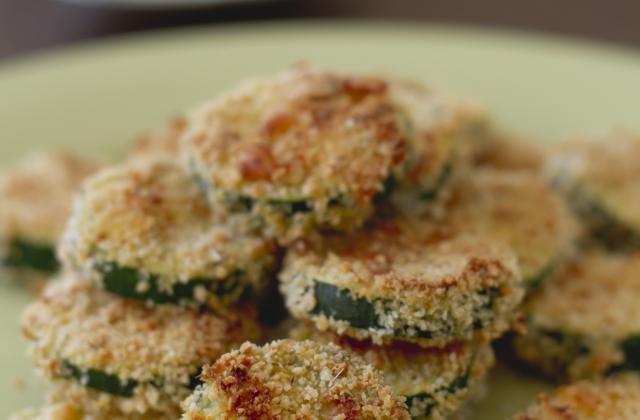 Rondelles de courgettes panées au parmesan - Photo par Bérengère