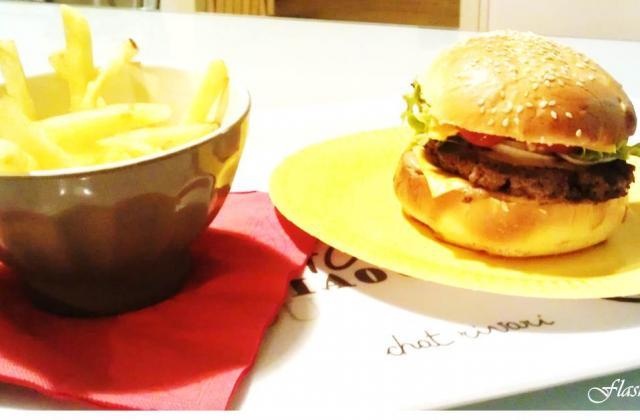 Hamburger-Frites - Photo par FlashGourmand