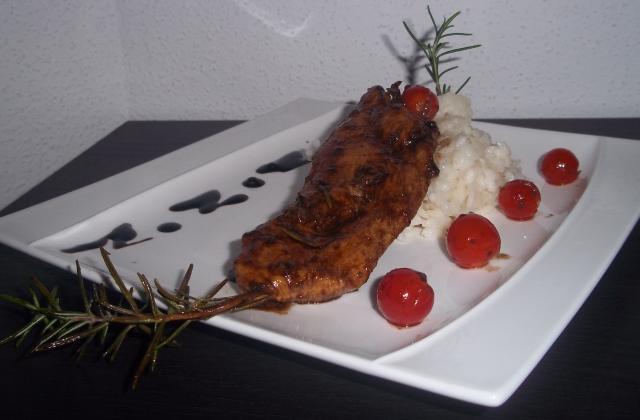Sucré / Salé de poulet au romarin & son risotto cremeux - Photo par chouya