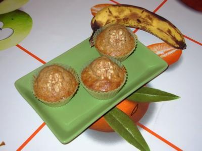 Muffins à la banane, aux noix et aux raisins - Photo par paulinc7