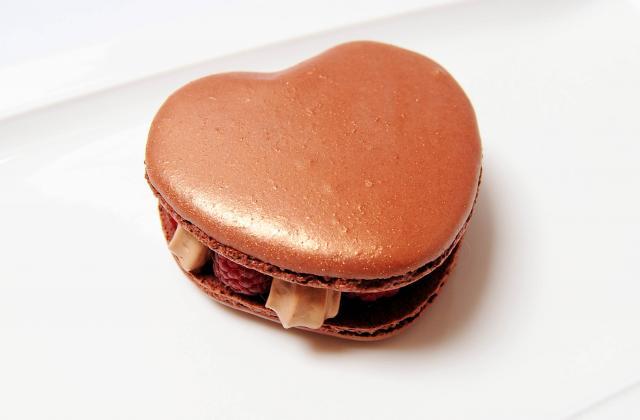Macaron coeur de Saint Valentin - Photo par Pâtisserie et Gourmandise