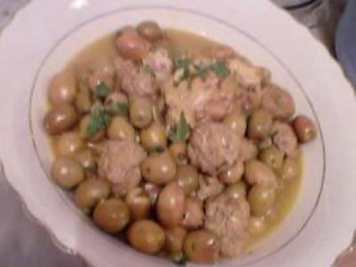Tajine d'olives et sauce blanche - Photo par fzoujj