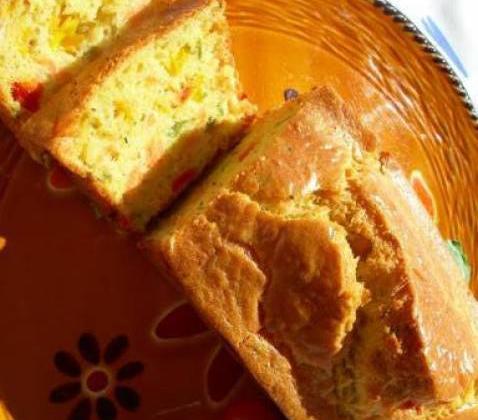 Cake au poivron et saumon fumé - Photo par Cempaka