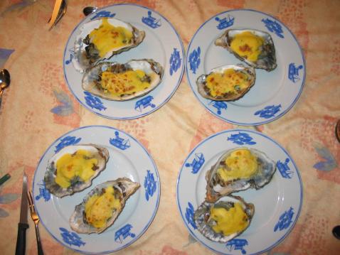 Huîtres chaudes au Champagne - Photo par 750g