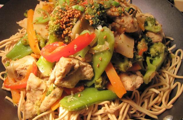 Wok vitaminé poulet et sésame - Photo par lbouge