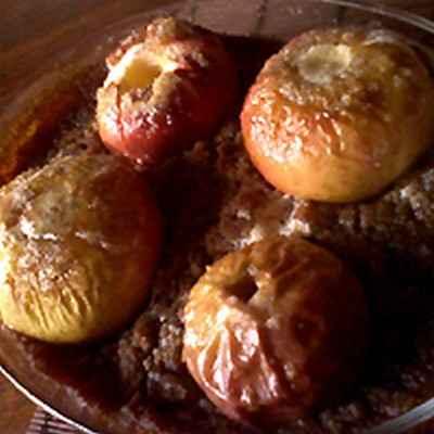 Pomme au four spéculoos - Photo par jeanchoA